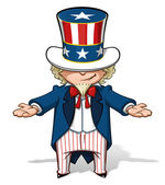 Uncle Sam Showing — Stock Photo