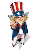 Uncle Sam 'I Want You' — Stock Photo