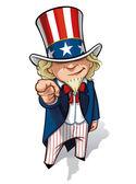 Uncle Sam 'I Want You' — Stock Photo