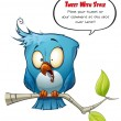 Blue Bird Freaking Out — Stock Photo