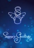 Seasons Greetings - Angel Card — Stock Vector
