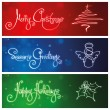 Stock Vector: Three Christmas Banners