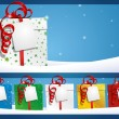 Winter Background - Gift with Label — Imagens vectoriais em stock