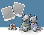 Cat Photo holder — Stock Vector