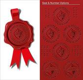 Wax Seal - Warranty & Safety Seal — Stock Vector