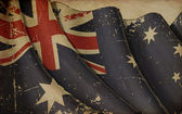 Australian Flag Old Paper — Stock Photo