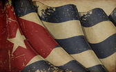 古巴国旗旧纸 — 图库照片