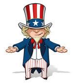 Uncle Sam Debating — Stock Vector