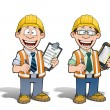 Construction Worker - Project Manager — Stock Photo