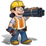 Constraction Worker -- Carpenter — Stock Vector #26126279