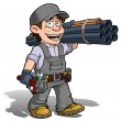 Handyman - Plumber Gray — Stock Photo