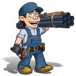 Handyman - Plumber Blue — Stock Photo