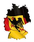 German Map-Flag — Stock Vector