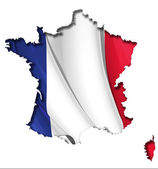 French Map-Flag — Stock Vector