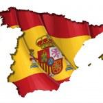 Spanish Map-Flag — Stock Vector #26696095