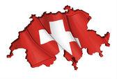 Swiss Map-Flag — Stock Vector