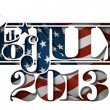 Forth of July 2013 Lettering Cut-Out — Stock Vector #26821139