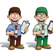 Warehouse - Prison - Courier - Zoo -- Manager - Brown & Green — Stock Photo