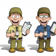 Stock Photo: Warehouse - Prison - Courier - Zoo -- Manager - Khaki