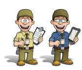 Warehouse - Prison - Courier - Zoo -- Manager - Khaki — Stock Photo