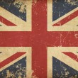 UK Aged Flat Flag — Stock Photo #28963677