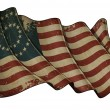US Civil War Union -37 Star Medallion- Historic flag — Stock Photo