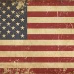 USA Aged Flat Flag — Stock Photo