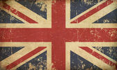 UK Aged Flat Flag — Stock Photo