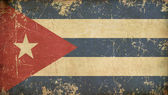 Cuban Aged Flat Flag — Stock Photo