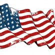 US Flag WWI-WWII (48 stars) Scratched — Stock Photo