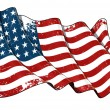 US Flag WWI-WWII (48 stars) Scratched — Stock Photo #29225135
