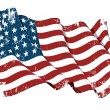 US Flag WWI-WWII (48 stars) Grunge — Stock Photo