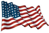 US Flag WWI-WWII (48 stars) — Stock Photo