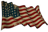 US Flag WWI-WWII (48 stars) Historic Flag — Stock Photo