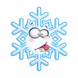Snowflake Head - Tongue — Stock Vector