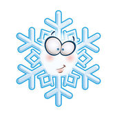Snowflake Head - Smirk — Stock Vector