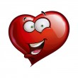 Heart Faces Happy Emoticons - Hell — Stock Vector