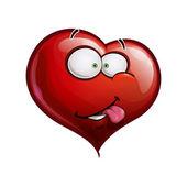 Heart Faces Happy Emoticons - I Really Like You — Stock Vector