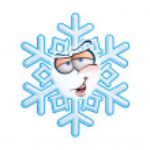 SnowFlake Emoticon - Hey You — Stock vektor