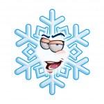SnowFlake Emoticon - I'm Rome — Stock Vector
