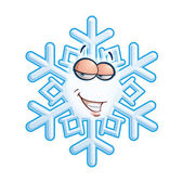 SnowFlake Emoticon - Hey Sweeti — Stock Vector