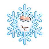 SnowFlake Emoticon - Hey Sweeti — Stock Vector
