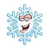 SnowFlake Emoticon - Hey — Stock Vector