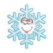 SnowFlake Emoticon - In Lov — Stock Vector