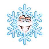 SnowFlake Emoticon - Smug — Stock vektor