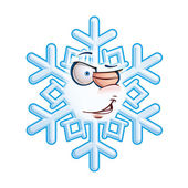 SnowFlake Emoticon - Wink — Stock Vector