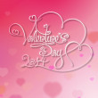 Valentines Card - Valentines Day 2014 - Pink — Stock Vector