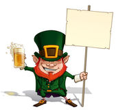 St. Patrick Holding a Placard — Stock Vector