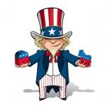 Uncle Sam Republican n Democratic — Stock Vector #44782879
