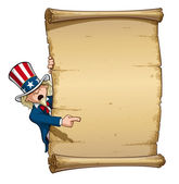 Uncle Sam Pointing at Declaration — Stock Vector